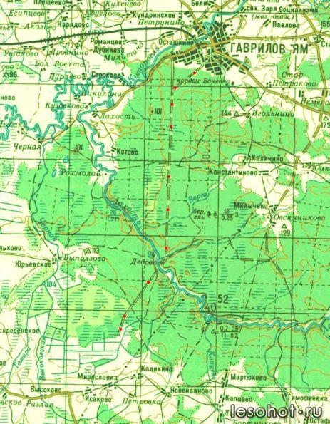 карта ярославской области рыболовная карта