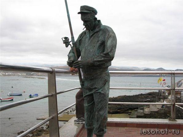 рыбак в полный рост