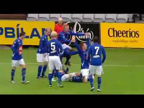 Bicycle Style Soccer Goal Celebration - Stjarnan vs Reykjavik - August 6 2010